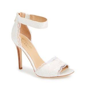 Nicole Miller Artelier White Lace Shoes